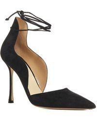 Francesco Russo Ankle Strap Pumps - Black