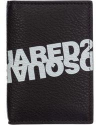 DSquared² Men's Genuine Leather Money Clip Wallet - Black