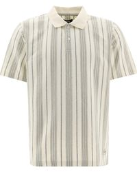 """Stussy """"revival"""" Stiped Polo Shirt - Natural"""