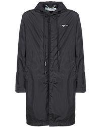 Off-White c/o Virgil Abloh Lightweight Hooded Rain Coat - Black