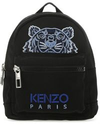 KENZO Kampus Tiger Embroidered Mini Backpack - Black