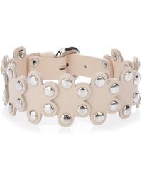 RED Valentino - Studded Leather Flower Puzzle Bracelet - Lyst