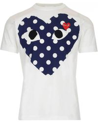 COMME DES GARÇONS PLAY - Printed T-shirt - Lyst
