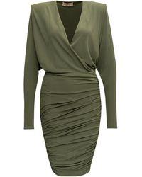 Alexandre Vauthier Draped Mini Dress - Green