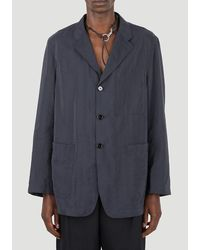 Lemaire Single-breasted Blazer - Grey