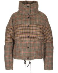 Moncler - Checked Padded Coat - Lyst