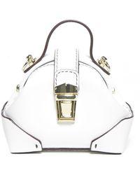 MANU Atelier Micro Demi Bag - White