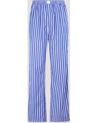 Balenciaga Striped Pajama Style Pants - Blue