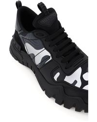 Valentino Garavani Valentino Garavani Rockrunner Plus Camouflage Sneakers - Black