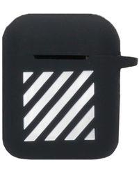 Off-White c/o Virgil Abloh Striped Print Airpods Case - Black