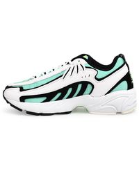 MSGM White And Green Fila Sneakers
