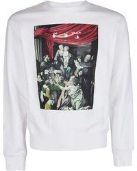 Off-White c/o Virgil Abloh Carravaggio Painting Sweatshirt - White