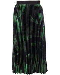 Off-White c/o Virgil Abloh Rose Print Pleated Skirt - Green