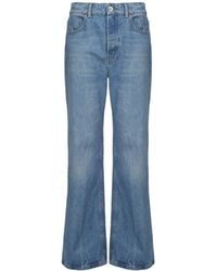 Paco Rabanne High Waisted Flared Jeans - Blue