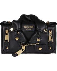 Moschino Biker Micro Crossbody Bag - Black