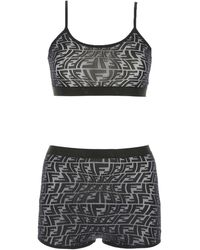 Fendi Ff Print Underwear Set - Black