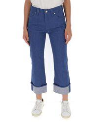 Chloé Cropped Straight-leg Jeans - Blue