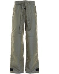 Fear Of God Tie-waisted Relaxed Fit Trousers - Green