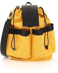 Fendi Ff Vertigo Jacquard Fabric Backpack - Multicolour