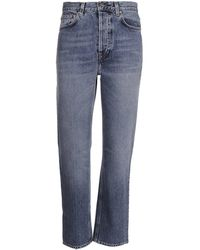Totême High Waist Slim Fit Jeans - Blue
