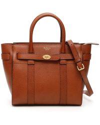 "Mulberry "" Zipped Bayswater Mini Bag"" - Brown"