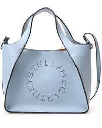 Stella McCartney Logo Top Handle Tote Bag - Blue