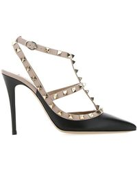 Valentino Garavani Rockstud Caged Court Shoes - Black