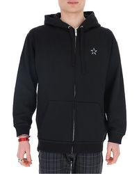 Valentino Vltnstar Zipped Hoodie - Black