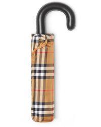 Burberry - Trafalgar Checkered Umbrella - Lyst