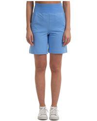 Alberta Ferretti High-waisted Shorts - Blue