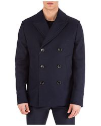 Gucci Double Breasted Overcoat - Blue