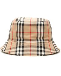 Burberry Check Bucket Hat - Natural