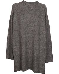 Totême Crewneck Ribbed Knit Jumper - Grey