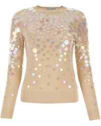 Paco Rabanne Sequin-embellished Sweater - Natural