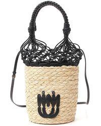 Miu Miu Mesh Detail Bucket Bag - Black