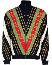 Gucci GG Diagonal Striped Zip-up Cardigan - Multicolour