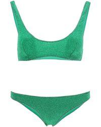 Oséree Shimmer Bikini Set - Green