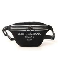 Dolce & Gabbana Nylon Palermo Tecnico Belt Bag With Logo Print - Black