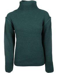 Tory Burch Oversized Turtleneck Sweater - Green