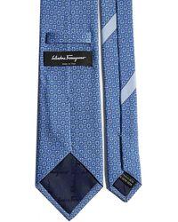 Ferragamo Printed Tie - Blue