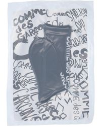 Comme des Garçons Logo Intarsia Socks - Black