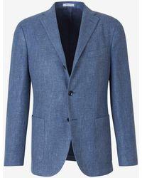 Boglioli Classic Single-breasted Blazer - Blue