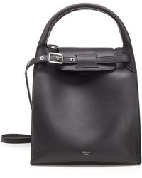 Lyst - Céline Tote Bag Hand Bag Dark Brown Leather in Brown 21f172ce8a29a