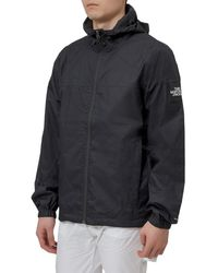 The North Face Logo Hooded Mountain Jacket - Black