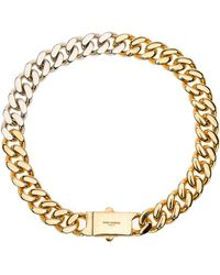 Saint Laurent Two-tone Chain Necklace - Metallic