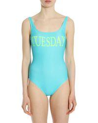 "Alberta Ferretti ""tuesday"" One Piece Swimsuit - Blue"