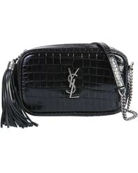 Saint Laurent Mini Lou Crossbody Bag - Black