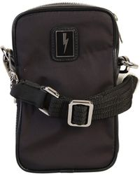Neil Barrett Lightning Bolt Patch Messenger Bag - Black