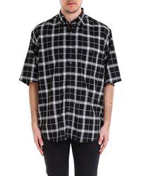 Balenciaga Madras Long Shirt - Black