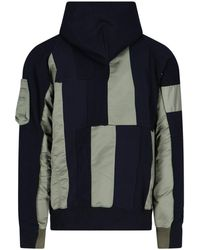 Sacai Panelled Zip-up Jacket - Multicolour